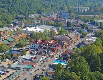 Ariel View of Downtown Gatlinburg