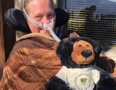 Tami Holloman and her MLC bear named Micah