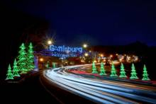 Gatlinburg Welcomes You in Neon Lights at Night