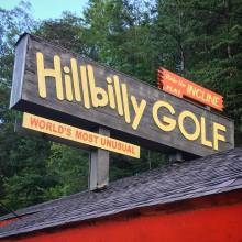 Hillbilly Golf Sign
