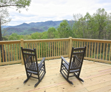 Two Rocking Chairs with Mountain View