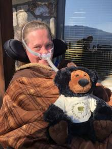Tami Holloman with her MLC bear